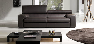 ITALIAN LEATHER SOFA MARGARITE - vito italia