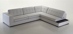 Italian White leather Sectional  Daronno