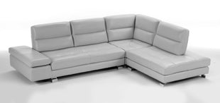 Italian leather sectional Gemma