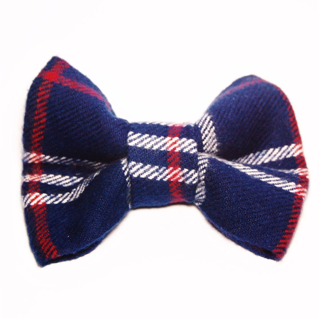 Winter Plaid Flannel Bow Tie