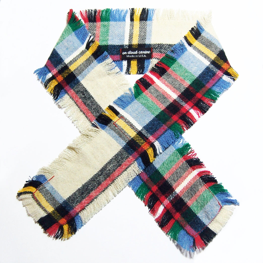Confetti Plaid Flannel Scarf