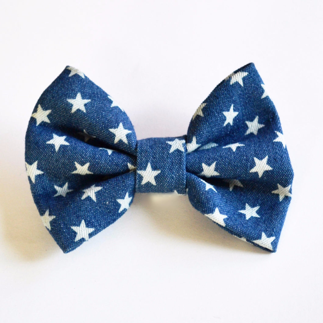 Denim & Stars Bow Tie - Back in Stock!
