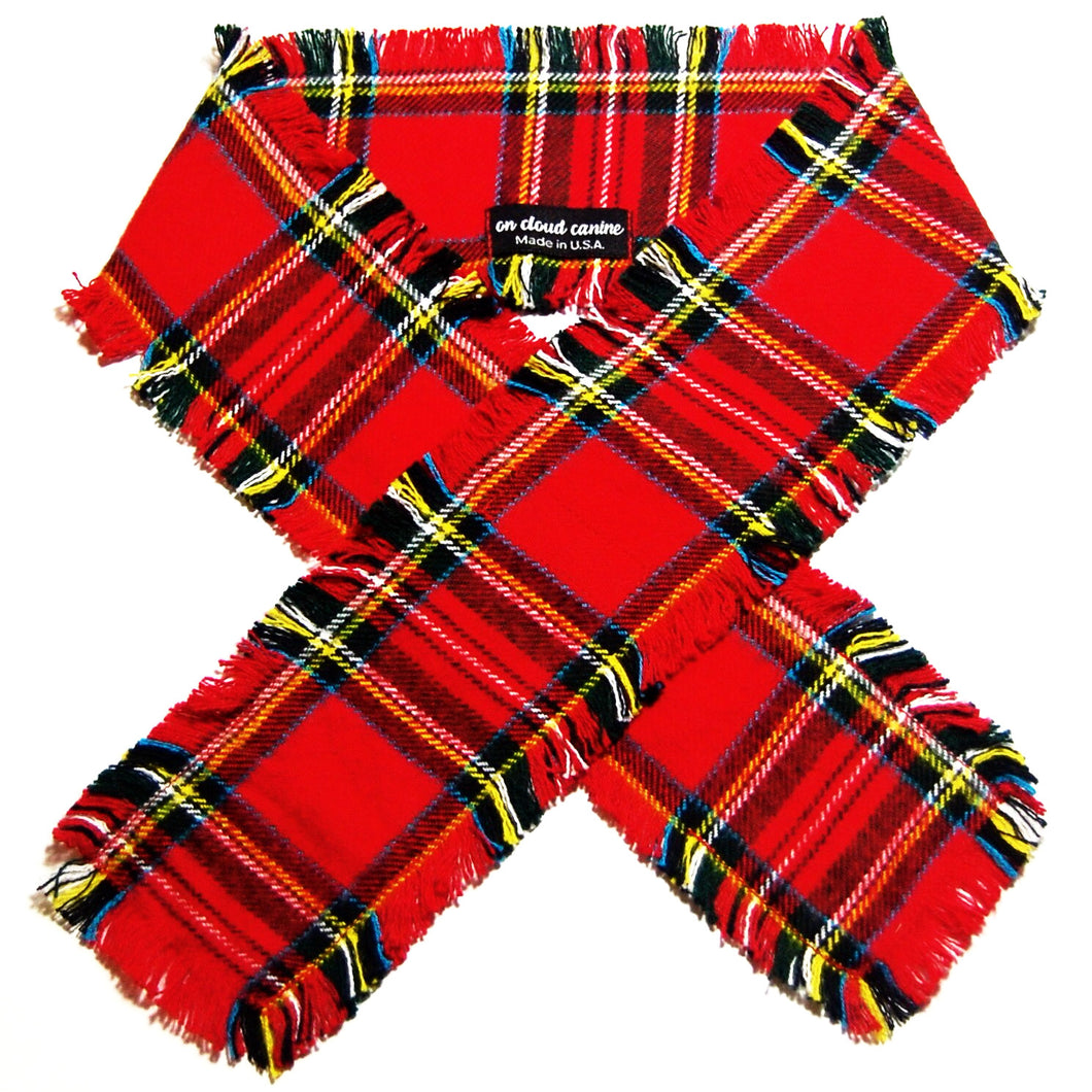 Festive Plaid Flannel Scarf