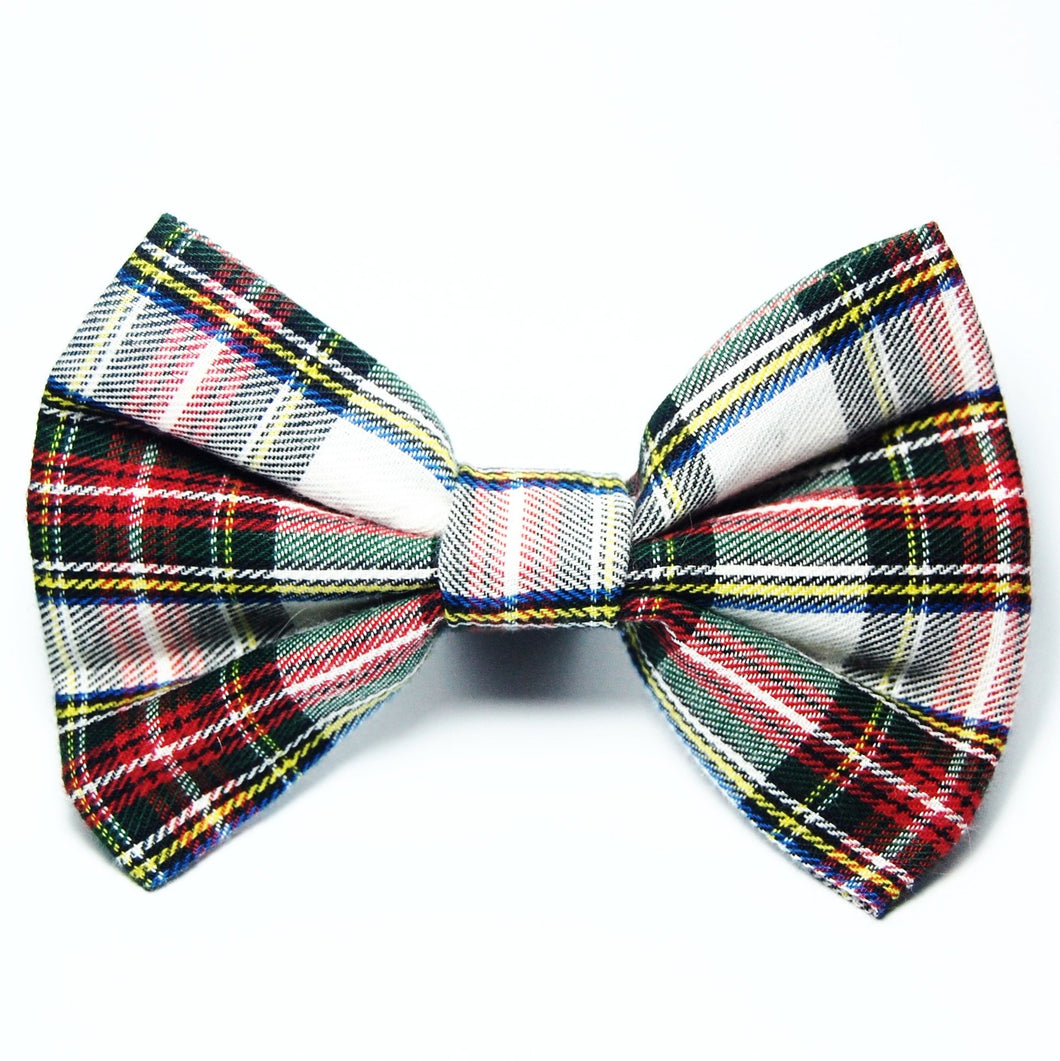 Holiday Plaid Bow Tie