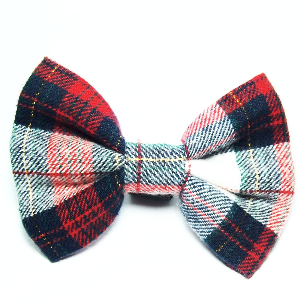 Nutcracker Plaid Flannel Bow Tie