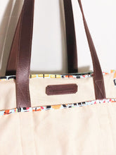 NEW! Premium Natural/Navy Blue/Sushi Tote with Leather Straps