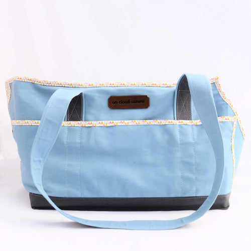 SALE! Sky Blue/Grey/Triangles Wally Tote