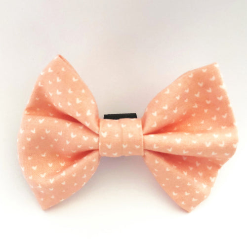 Pink & White Hearts Bow Tie
