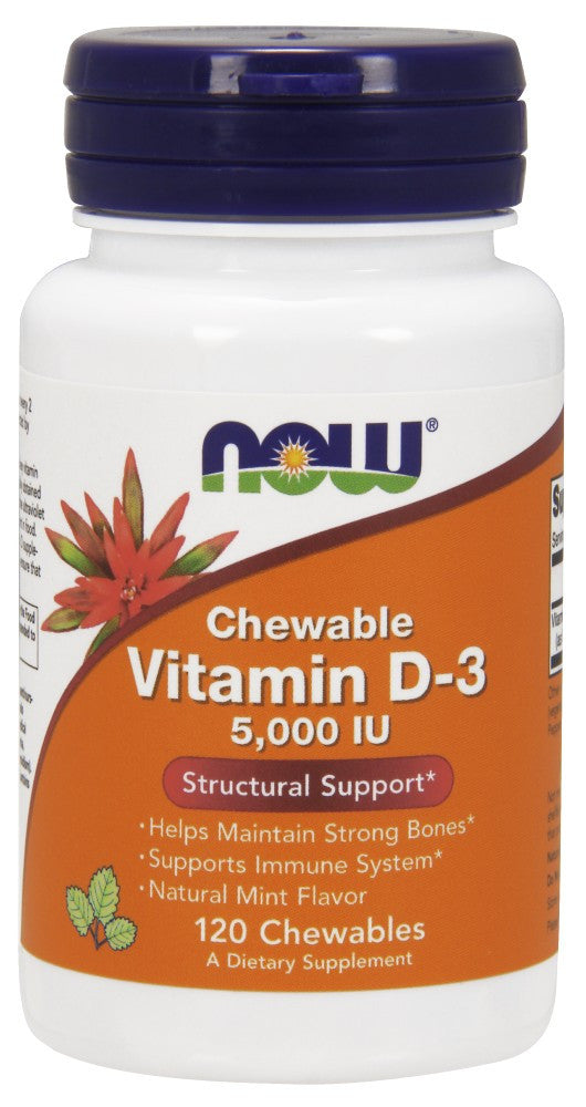 NOW Foods Vitamin D-3 5,000 IU Chewable - The Daily Apple
