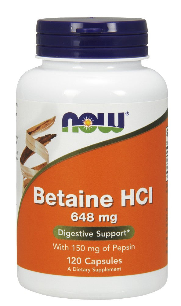 Betaine HCl 648 mg Capsules - The Daily Apple