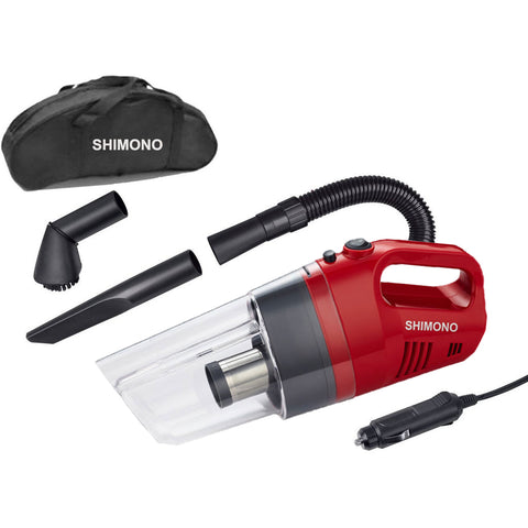 Shimono Pro-cyclone Bagless Car Vacuum SVC 1020-C Red - Shimono