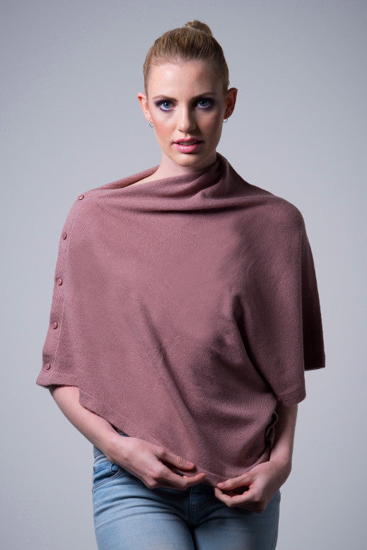 Cashmere-button-poncho-Rosewood