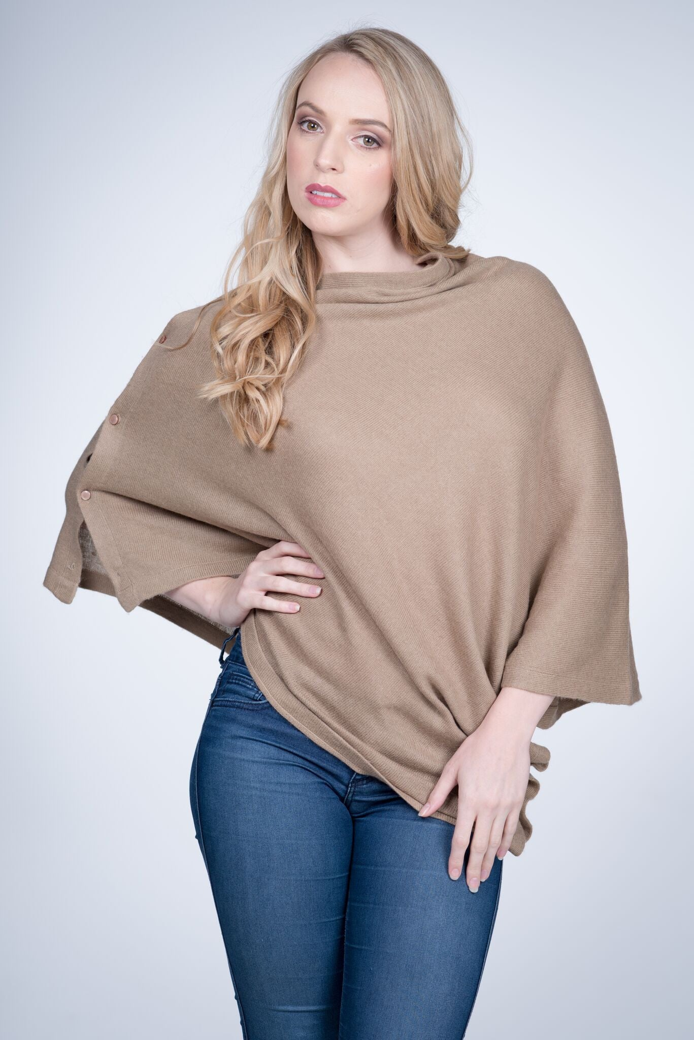 Cashmere Button Wrap