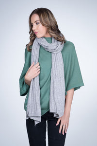 Cable Knit Natural Cashmere Shawl -cashmere Australia