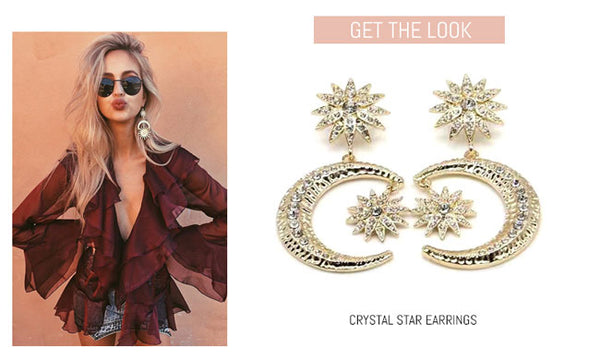 Crystal Star Statement Earring