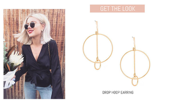 Drop Hoop Statement Earring
