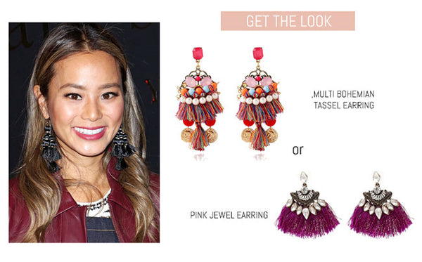 Jamie Chung with Tassel Earring