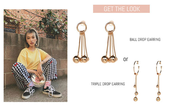 Ball Drop Statement Earring