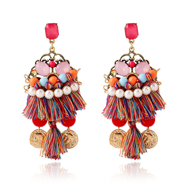 Multi Bohemian Tassel Earrings