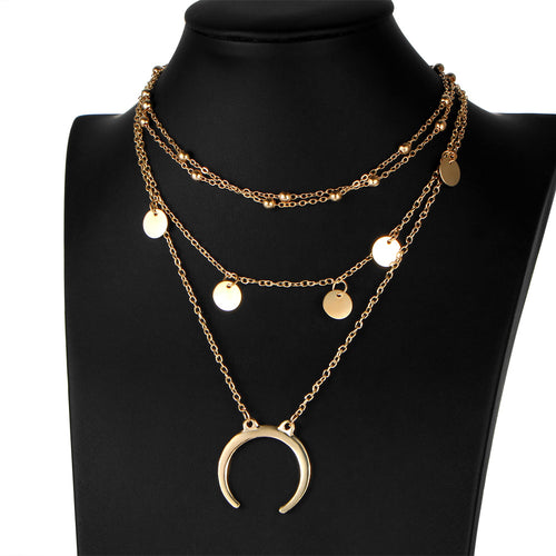 Pia Multi Necklace - Gold