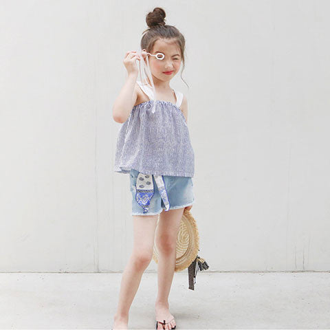 Tutto bene Maranda Denim Shorts - Dango Kids