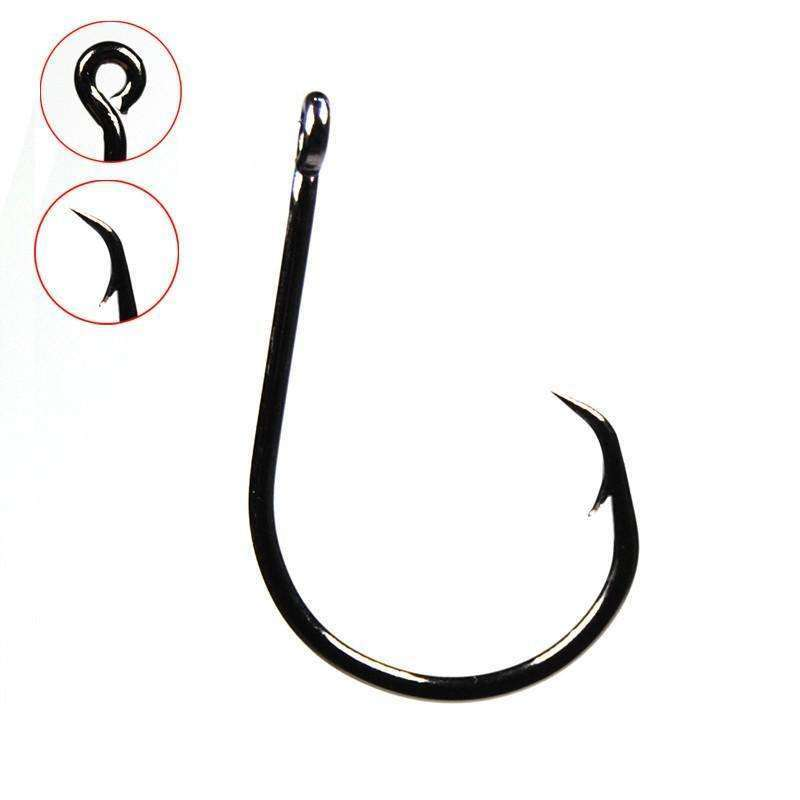 Fishing Trends Online Tackle Shop:20PCS Inline Circle Hook Carbon Steel #1 1/0 2/0 3/0 4/0 5/0 6/0 7/0 8/0