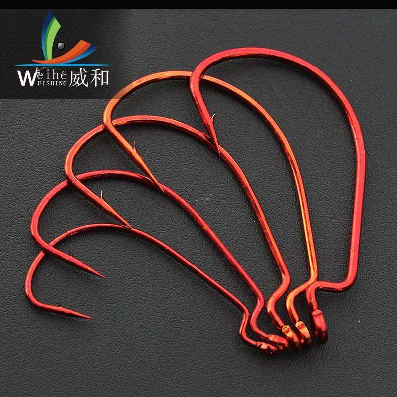 Hooks 20Pcs Fishing Offset Hook 1/0# 2/0# 3/0# 4/0# 5/0# 1# 2#
