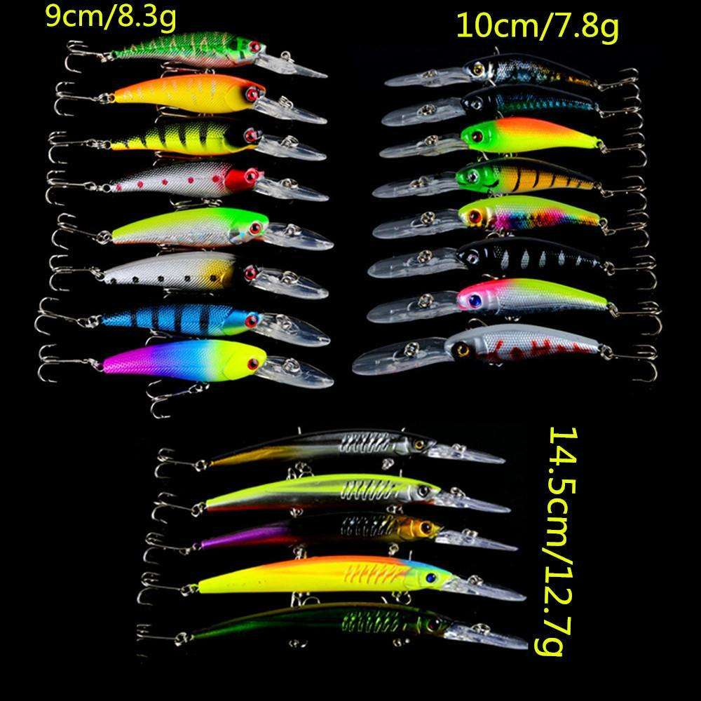 Lure 21Pcs Mixed Fishing Lures Of 21 Color Mix 3 Models Minnow Bait
