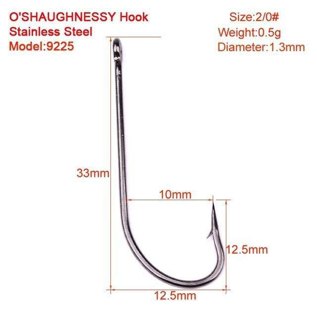 Hooks 50Pc Fishing O'shaughnessy Series Jig Hook 1#-8/0#