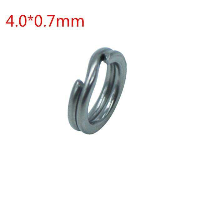 Split Ring 50Pcs 2.5-5.5Mm S/steel Rings For Blank Lures Hard Bait Hooks Connector Hook
