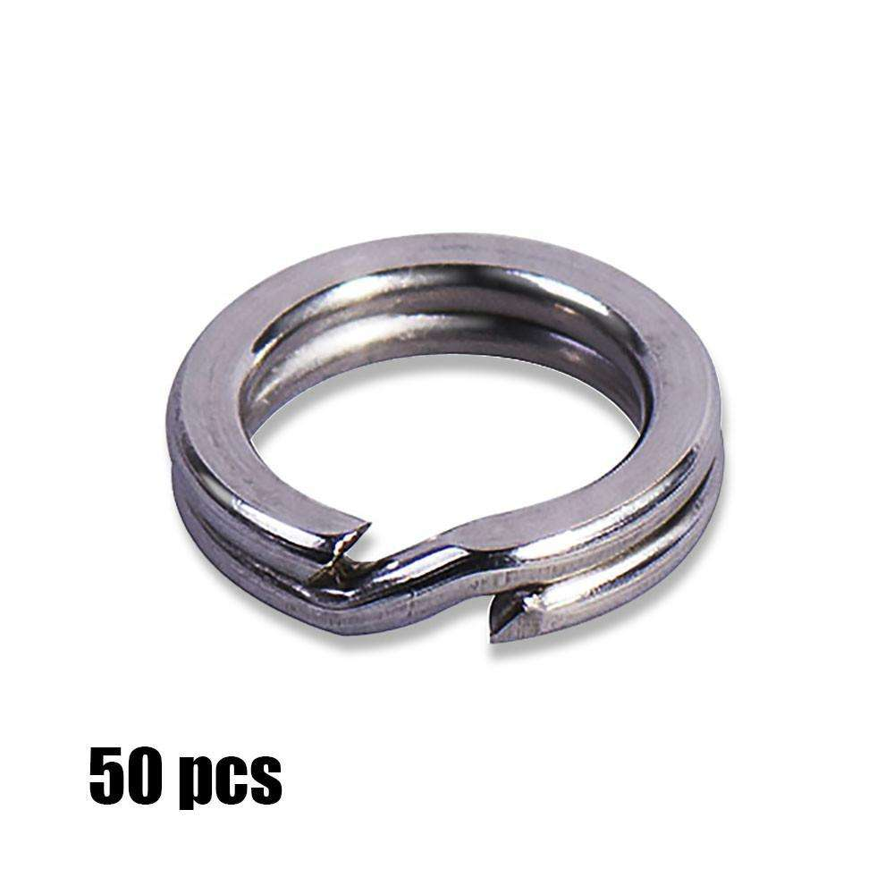 Split Ring 50Pcs S/steel For Blank Hard Bait Fishing Hook Connector