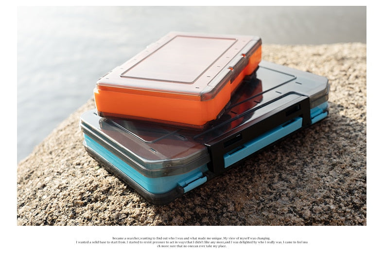 Fishing Trends Online Tackle Shop:Box Kingdom 12 14 compartments lure Hook storage Double Sided High Strength Fishing Tackle Box
