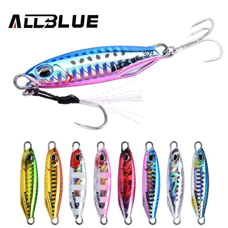Fishing Trends Online Tackle Shop:ALLBLUE New DRAGER Metal Cast Jig Spoon 15G 30G Shore Casting Jigging Lead Fish Sea Bass Fishing Lure  Artificial Bait Tackle