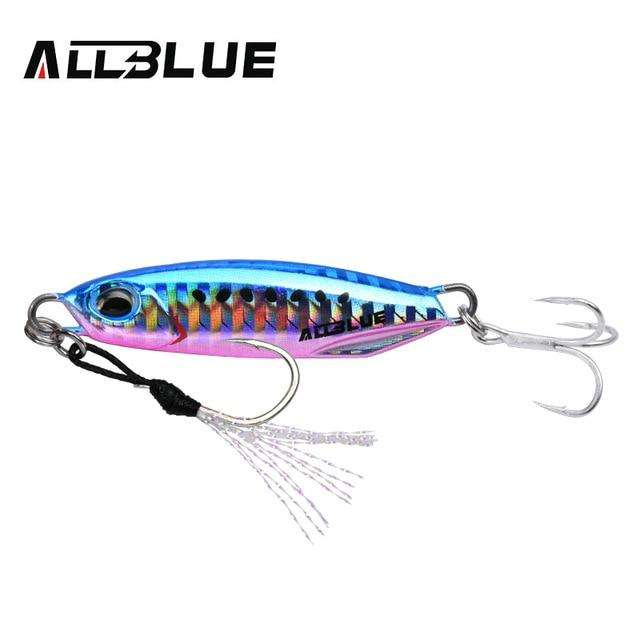 Fishing Trends Online Tackle Shop:ALLBLUE New DRAGER Metal Cast Jig Spoon 15G 30G Shore Casting Jigging Lead Fish Sea Bass Fishing Lure  Artificial Bait Tackle,Colpr F / 15g