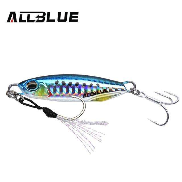 Fishing Trends Online Tackle Shop:ALLBLUE New DRAGER Metal Cast Jig Spoon 15G 30G Shore Casting Jigging Lead Fish Sea Bass Fishing Lure  Artificial Bait Tackle,Color H / 15g