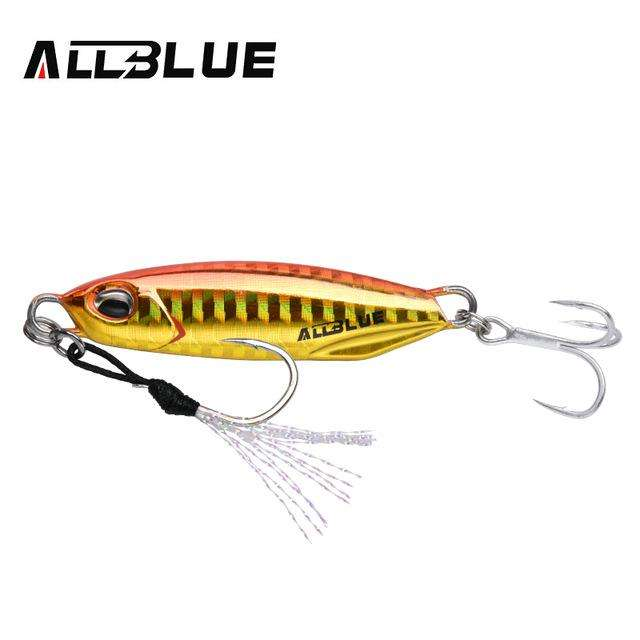 Fishing Trends Online Tackle Shop:ALLBLUE New DRAGER Metal Cast Jig Spoon 15G 30G Shore Casting Jigging Lead Fish Sea Bass Fishing Lure  Artificial Bait Tackle,Color B / 15g