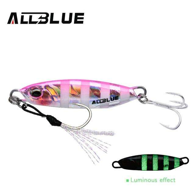 Fishing Trends Online Tackle Shop:ALLBLUE New DRAGER Metal Cast Jig Spoon 15G 30G Shore Casting Jigging Lead Fish Sea Bass Fishing Lure  Artificial Bait Tackle,Color D / 15g