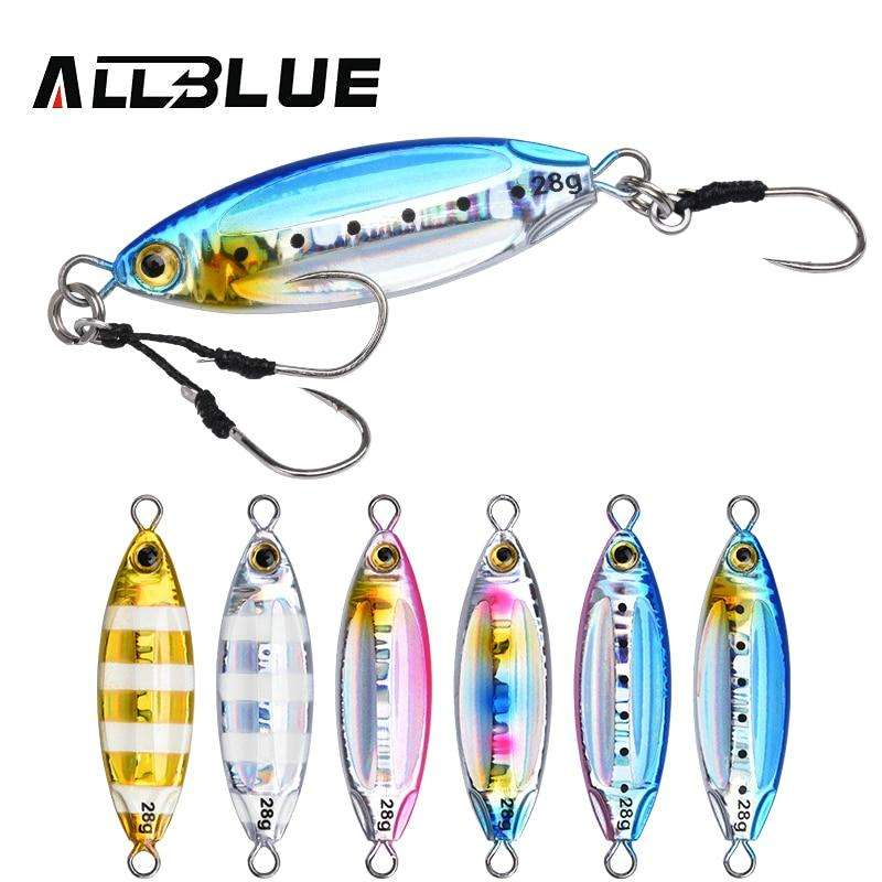 Fishing Trends Online Tackle Shop:ALLBLUE New SLOWER OVAL Metal Slow Jig Cast Spoon 28G 40G 60G Artificial Bait Shore Fishing Jigging Lead Metal Fishing Lure