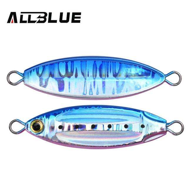 Fishing Trends Online Tackle Shop:ALLBLUE New SLOWER OVAL Metal Slow Jig Cast Spoon 28G 40G 60G Artificial Bait Shore Fishing Jigging Lead Metal Fishing Lure,Color E / 28g