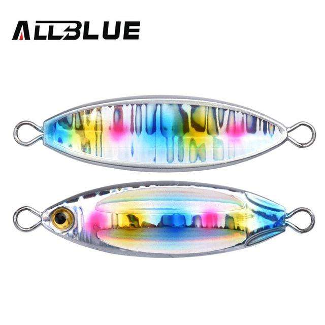 Fishing Trends Online Tackle Shop:ALLBLUE New SLOWER OVAL Metal Slow Jig Cast Spoon 28G 40G 60G Artificial Bait Shore Fishing Jigging Lead Metal Fishing Lure,Color D / 28g