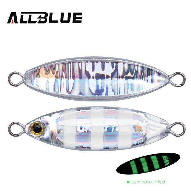 Fishing Trends Online Tackle Shop:ALLBLUE New SLOWER OVAL Metal Slow Jig Cast Spoon 28G 40G 60G Artificial Bait Shore Fishing Jigging Lead Metal Fishing Lure,Color B / 28g
