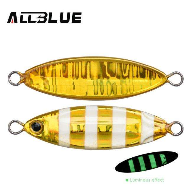 Fishing Trends Online Tackle Shop:ALLBLUE New SLOWER OVAL Metal Slow Jig Cast Spoon 28G 40G 60G Artificial Bait Shore Fishing Jigging Lead Metal Fishing Lure,Color A / 28g