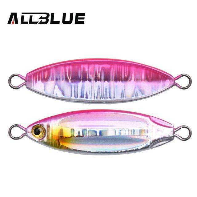 Fishing Trends Online Tackle Shop:ALLBLUE New SLOWER OVAL Metal Slow Jig Cast Spoon 28G 40G 60G Artificial Bait Shore Fishing Jigging Lead Metal Fishing Lure,Color C / 28g