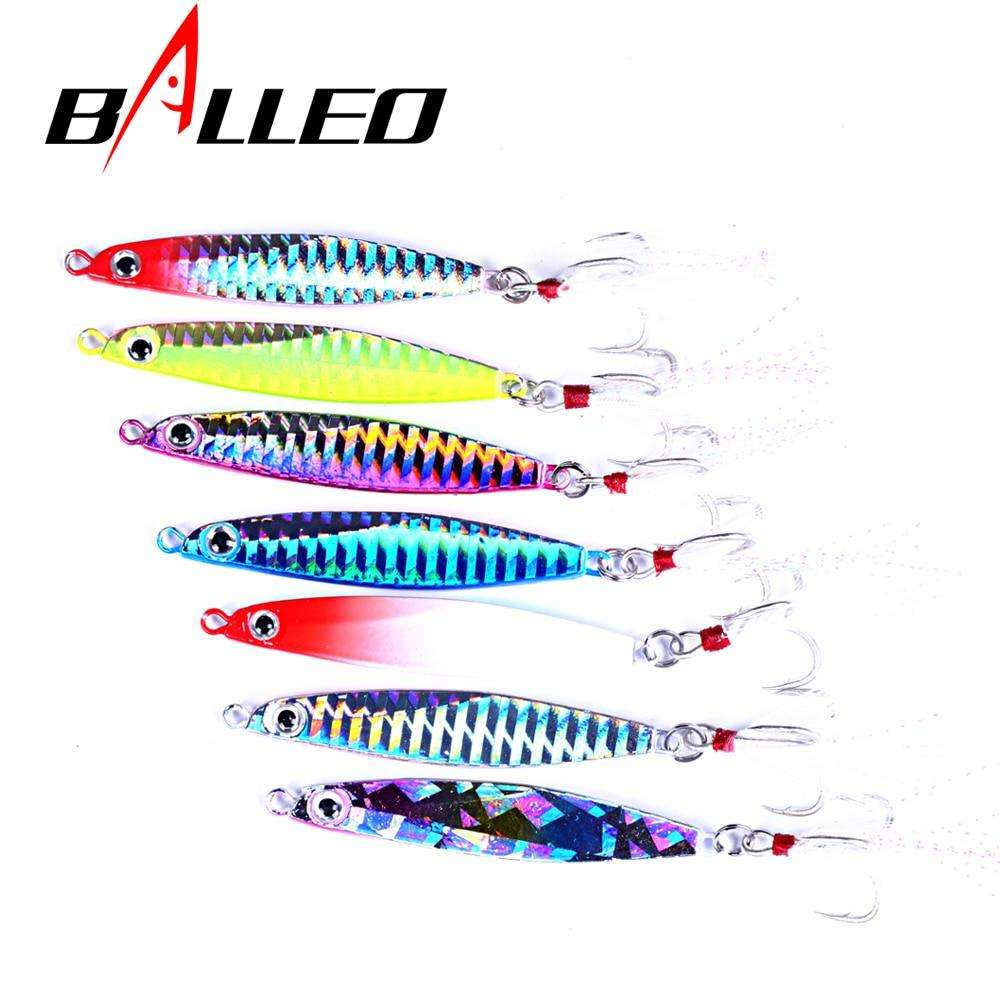 Fishing Trends Online Tackle Shop:Balleo Laser Metal Jig 10g 14g 17g 21g 30g jigging lure Lead Fish Fishing Lure metal lures fishing jig supplies for pike fishing