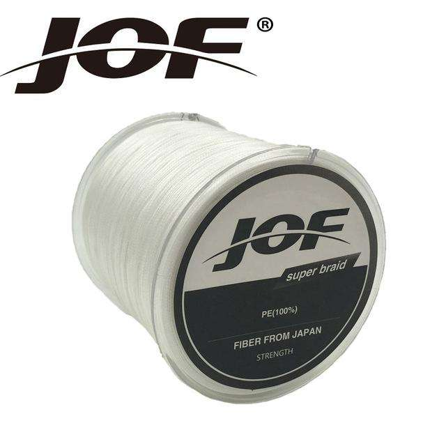 Fishing Trends Online Tackle Shop:Braid JOF 500m PE Material 0.6-20.0# Multicolour 8Strands Fishing Line,White / 1.0