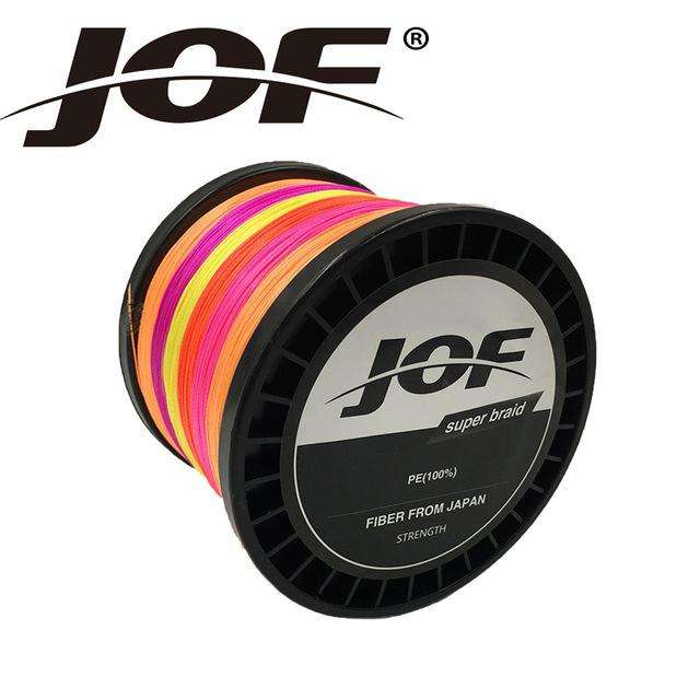 Fishing Trends Online Tackle Shop:Braid JOF 500m PE Material 0.6-20.0# Multicolour 8Strands Fishing Line,Multi with Red / 1.0