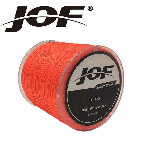 Fishing Trends Online Tackle Shop:Braid JOF 500m PE Material 0.6-20.0# Multicolour 8Strands Fishing Line,Orange / 1.0