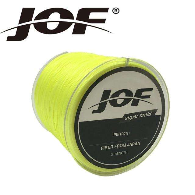 Fishing Trends Online Tackle Shop:Braid JOF 500m PE Material 0.6-20.0# Multicolour 8Strands Fishing Line,Yellow / 1.0