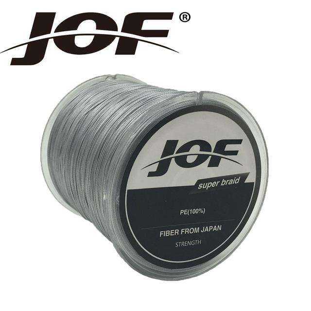 Fishing Trends Online Tackle Shop:Braid JOF 500m PE Material 0.6-20.0# Multicolour 8Strands Fishing Line,Gray / 1.0