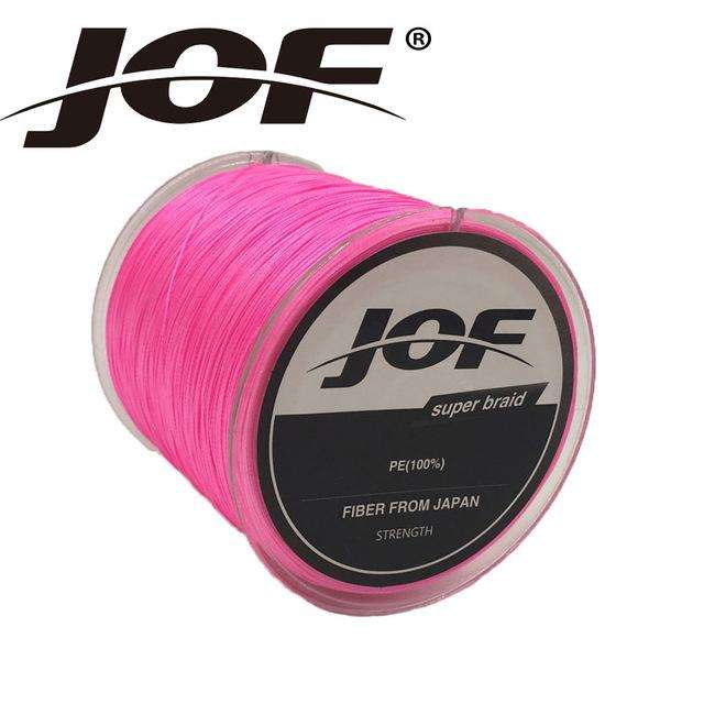 Fishing Trends Online Tackle Shop:Braid JOF 500m PE Material 0.6-20.0# Multicolour 8Strands Fishing Line,Pink / 1.0